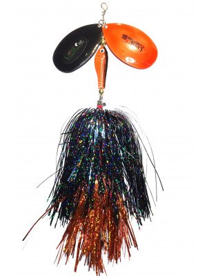 Flashabou bucktail black/orange