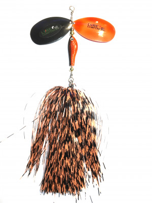 Flashabou bucktail barb/orange