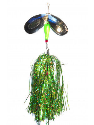 Flashabou bucktail chartreuse
