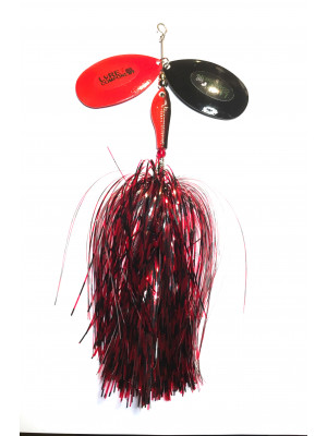 Flashabou bucktail barb/red