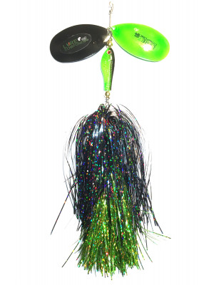 Flashabou bucktail black/chart