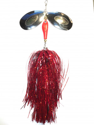 Flashabou bucktail red
