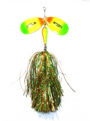 Flashabou bucktail firetiger