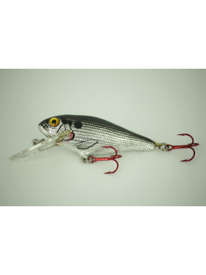 Bass-N-Shad - BLACK ON SILVER FOIL