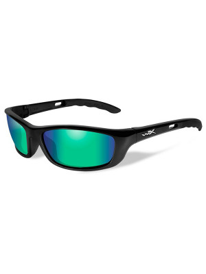 P-17 Polarized Emerald Green Gloss Black Frame
