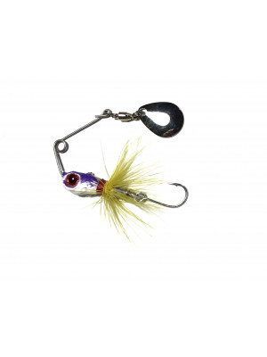 Micro spinnerbait LC - mov/alb