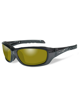 GRAVITY Polarized Yellow Black Crystal Frame