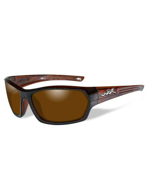 LEGEND Polarized Amber Gold Mirror Gloss Hickory Brown Frame
